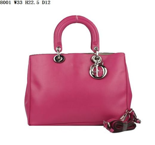 """2017 New Dior """"Diorissimo"""" Peach Smooth Leather Female Bag Silver Charm Protective Base Studs Small"""