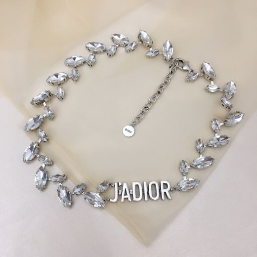 Best Replica Christian Dior J'ADIOR Design Charm Females Luxury Marquise Diamonds Necklace Online White Crystal Jewellery