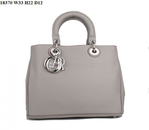 """Hot Selling Etoupe Silver Hardware Nappa Leather Womens Dior """"Diorissimo"""" Purses With Slip Pocket"""