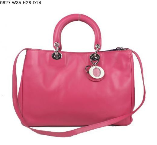 Good Reviews Dior Female Peach Nappa Leather Bags Thin Adjustable Shoulder Strap For Shopping