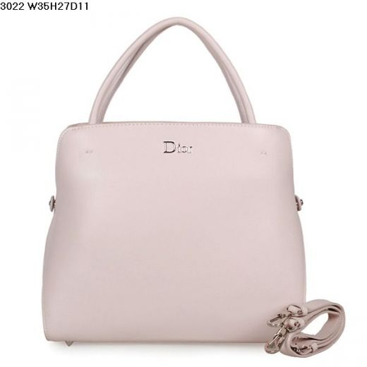 Hot Selling Dior Large Top Handle Pink Smooth Leather Tote Bag With Side Snap Buttons