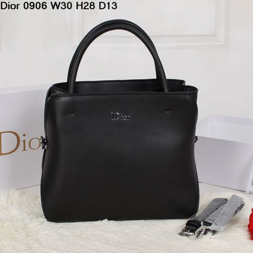 Women's Classic Black Large Calfskin Leather Top Handle Silver Hardware Clone Tote Bag