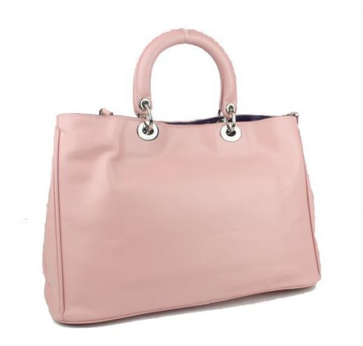 """2017 Winter Dior """"Diorissimo"""" Pink Top Handle Nappa Leather Totes Bag For Womens Anti-rust hardware"""