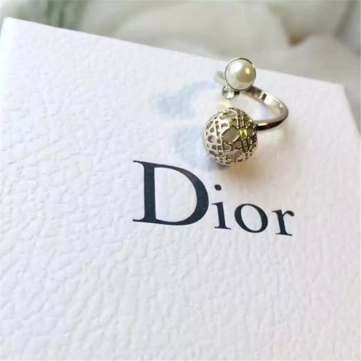 Christian Dior Pearl Diamond Open Ring Adjustable Size 2018 Autumn Winter Collection